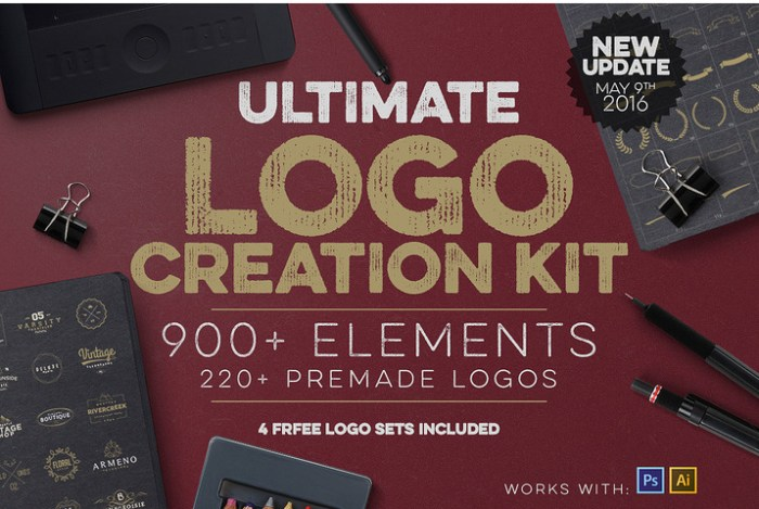 Creative Market Logo Creation Kit Bundle Edition 490891