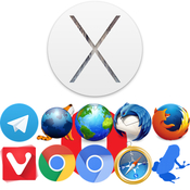Os x yosemite and internet utilities logo icon