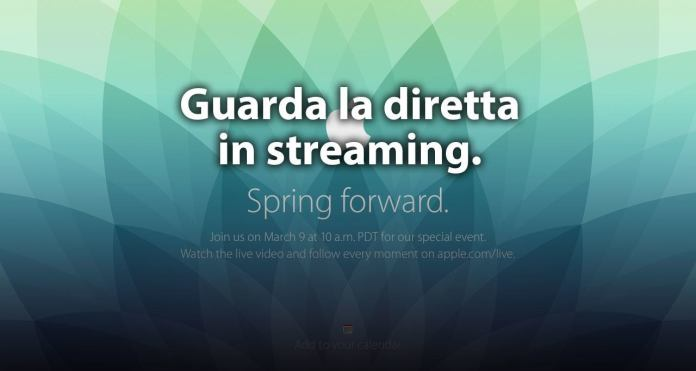 Diretta streaming evento Apple