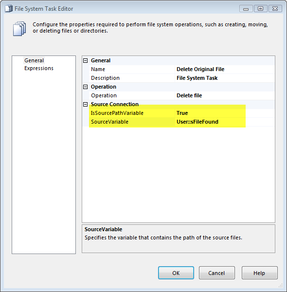 Deleting Files using File System Task in SSIS – Raymund