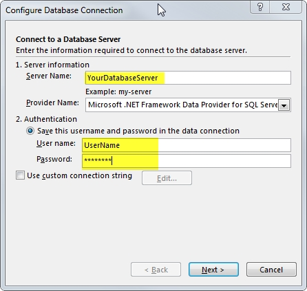 05 Configure Database Connection 2