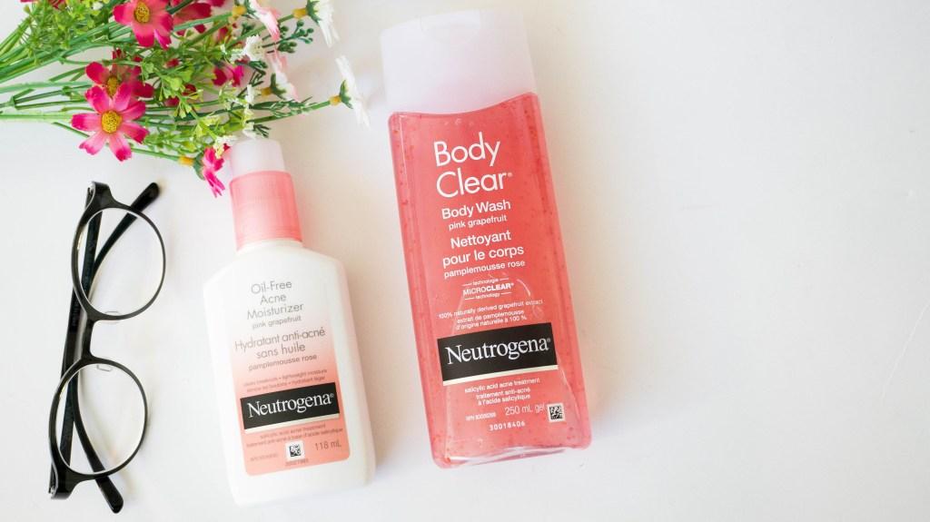neutrogena body clear body wash oil free acne moisturizer
