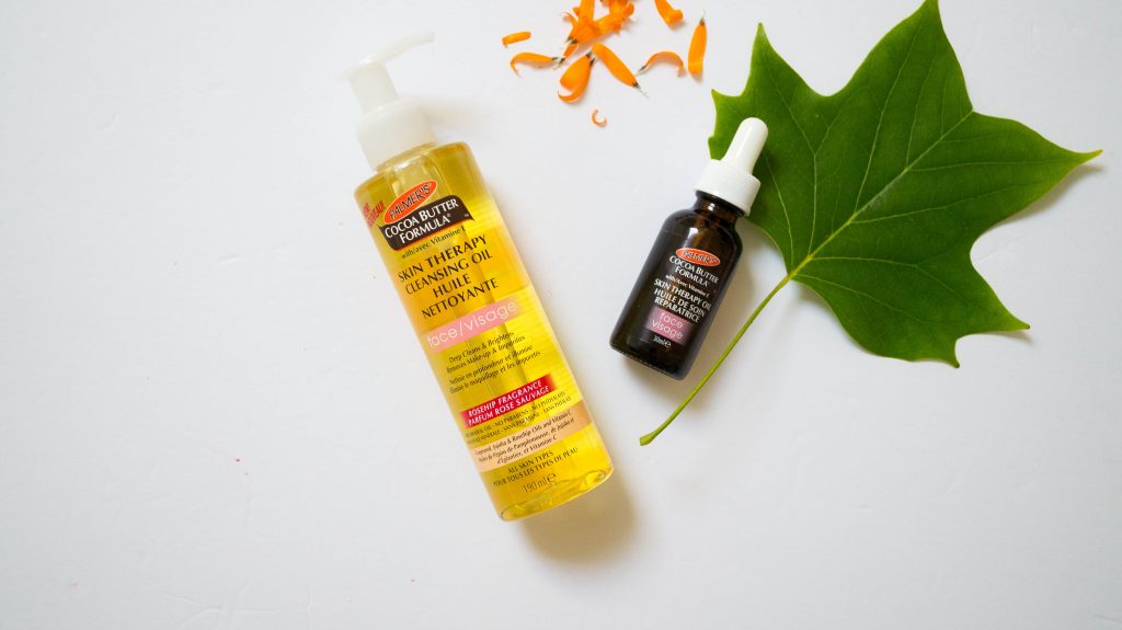 palmer's cocoa butter formula skin therapy cleansing oil and face oil-1
