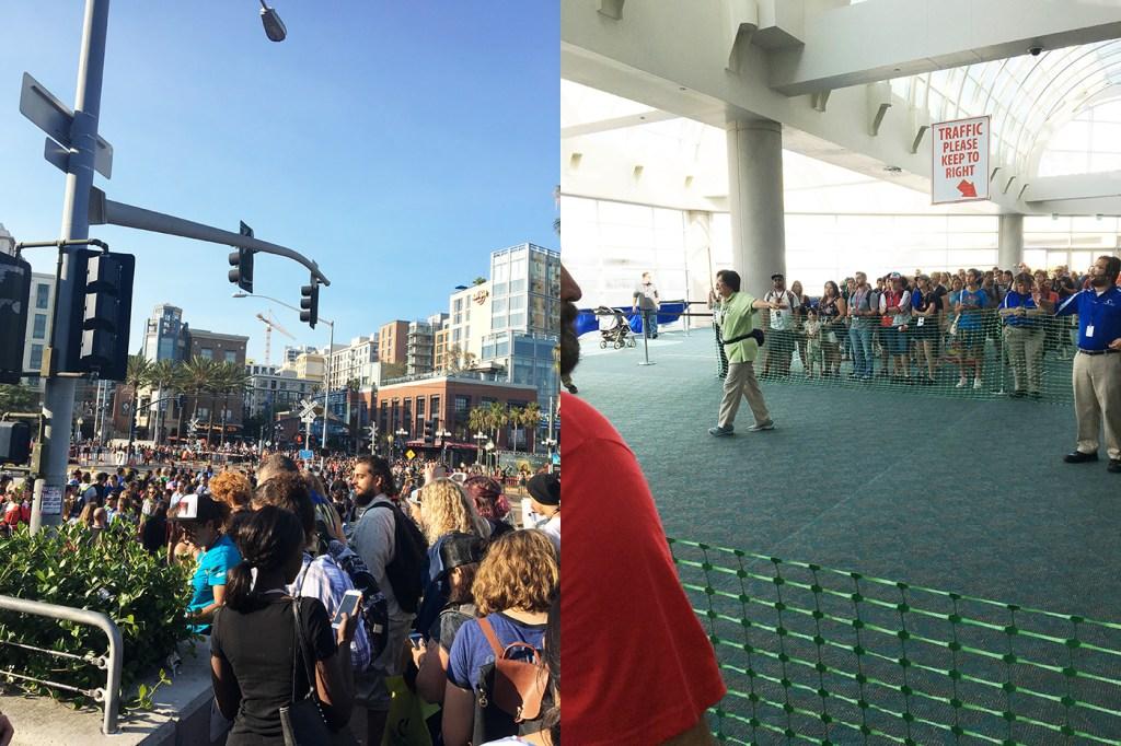 crowds at comic con