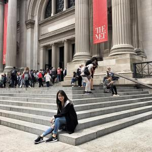 Spotted Lonely Girl sitting on the Met steps forcing chowjessicahellip