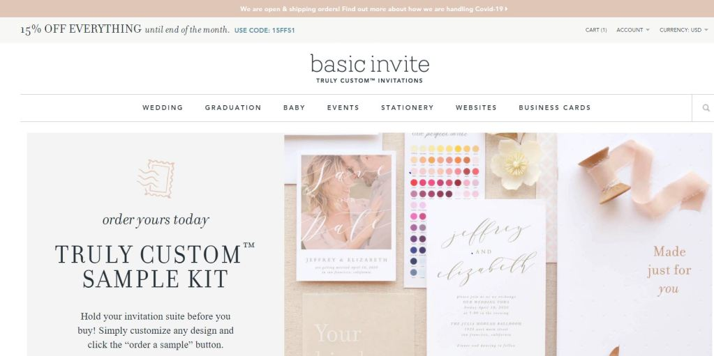 Basic Invite: Custom Invitations from weddings to birthdays