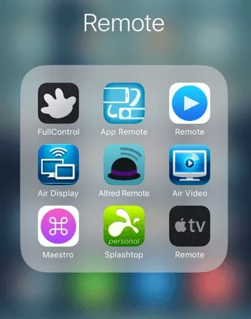 iOS remote apps