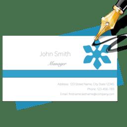 Blue Penguin Business Card Designer 2.61