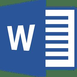 Microsoft Word 2016 15.38