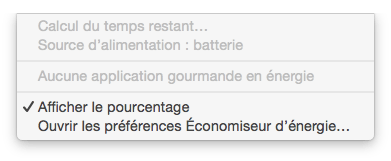 MacBook probleme batterie calcul du temps restant