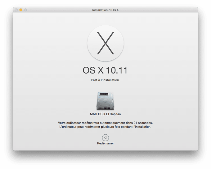 Mac OS X El Capitan installer