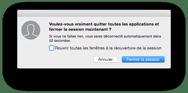 macbook pro rouvrir toutes les fenetres a la reouverture de la session