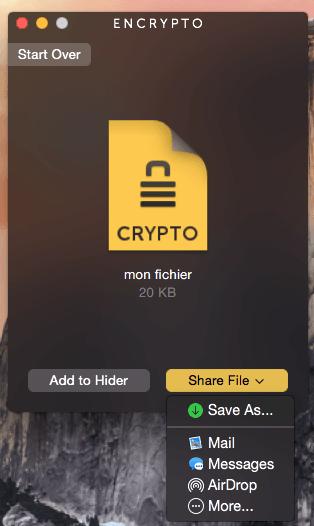 Crypter un fichier sur MacBook partager