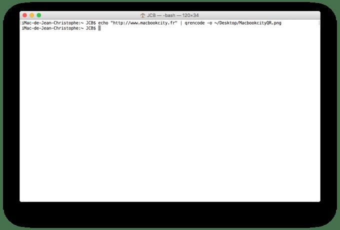 QR Code sur Mac creation