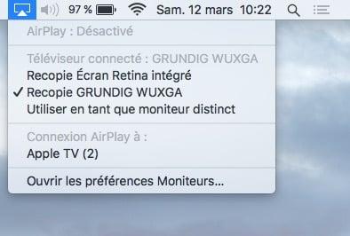 connexion macbook television gestion