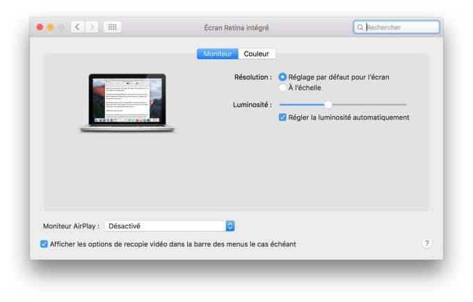 connexion macbook television par defaut