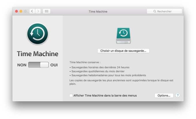 vendre son macbook sauvegarde time machine