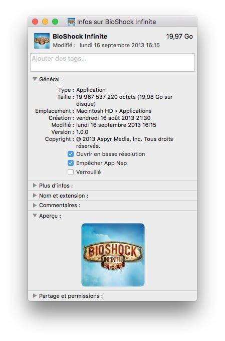 optimiser un jeu sur mac empecher app nap