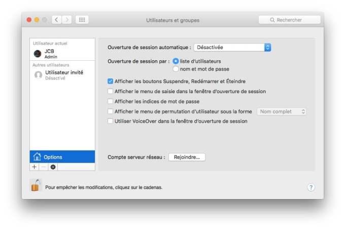 ouvrir son mac sans mot de passe desactivee
