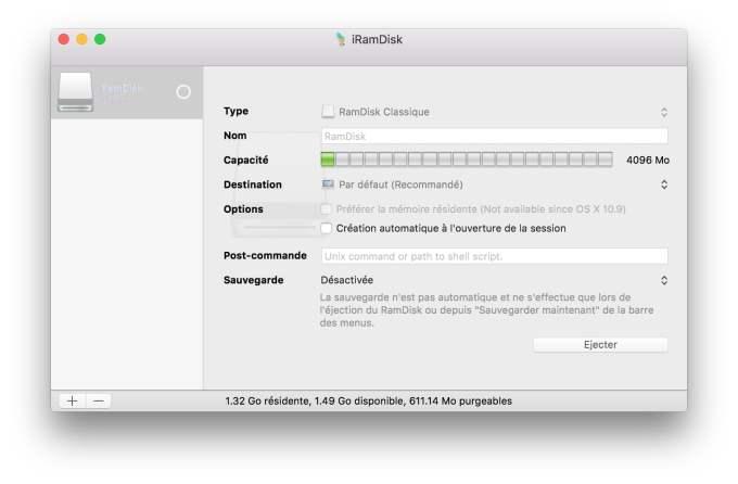 ram disk sur mac iram disk