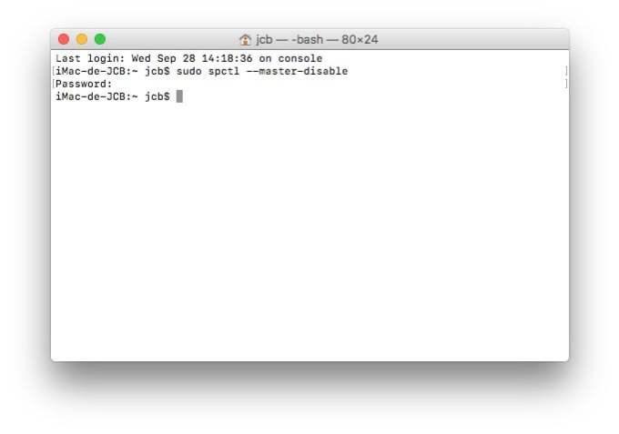 Ouvrir les Apps non identifiees sur macOS Sierra nimporte où