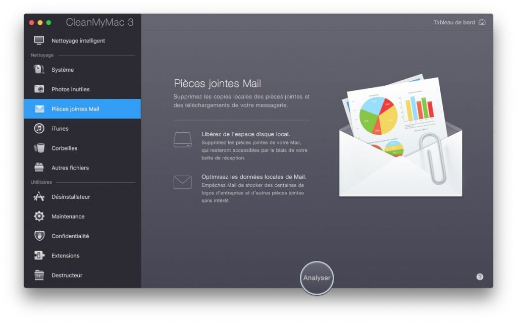 Accelerer Apple Mail Mac nettoyer cleanmymac