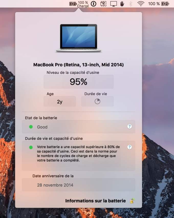 Entretenir la batterie de son MacBook pro