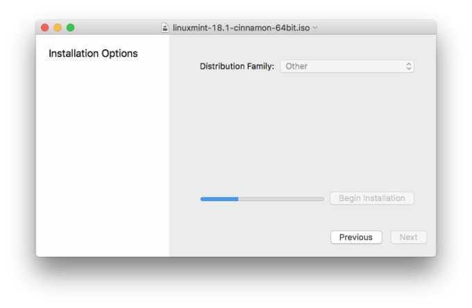 Essayer Linux sur Mac copie de fichiers