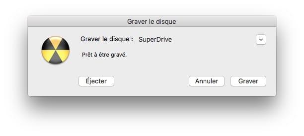 Essayer Linux sur Mac graver avec superdrive