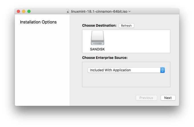 Essayer Linux sur Mac inserer cle usb