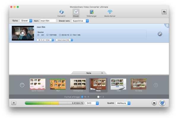Encoder une vidéo sur Mac graver une vidéo sur macbook