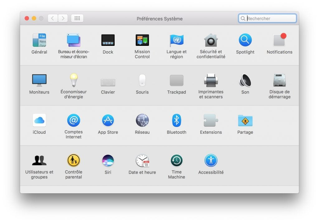 Night Shift mac OS preferences systeme