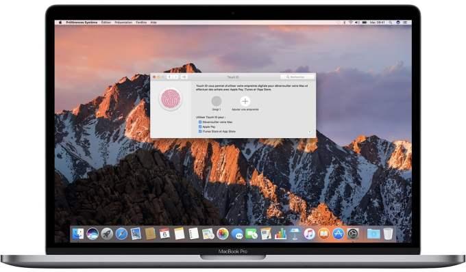 Configurer Touch ID sur Mac 2016