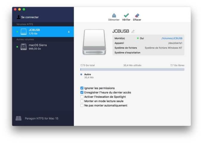 formater cle usb en ntfs sur mac os