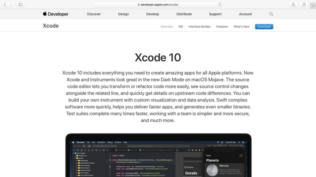 installation xcode mojave telechargement direct