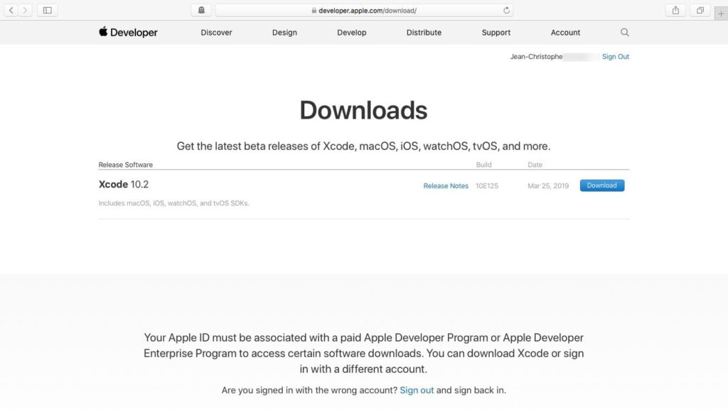 xcode 10 macos mojave download