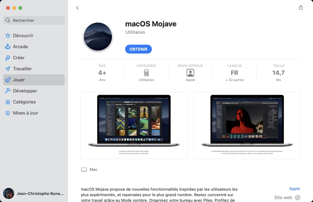 Dual boot macOS Big Sur et Mojave telecharger macos mojave complet