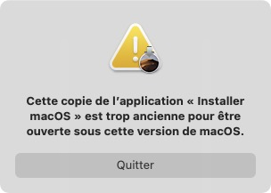 impossible lancer macos mojave application trop ancienne
