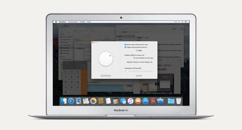 Ottimizza la produttività con HazeOver per Mac OS X