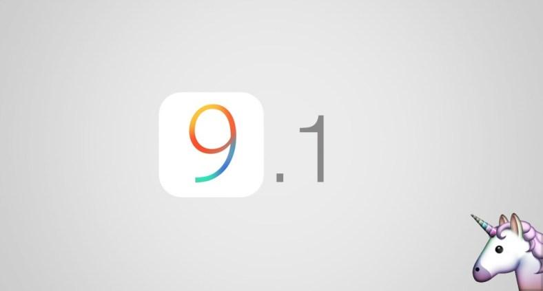 Aggiornamento iOS 9.1