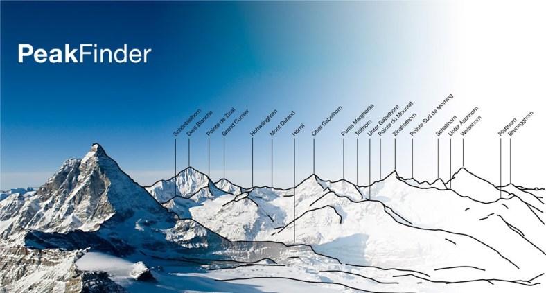 PeakFinder - App che riconosce i nomi delle vette delle montagne