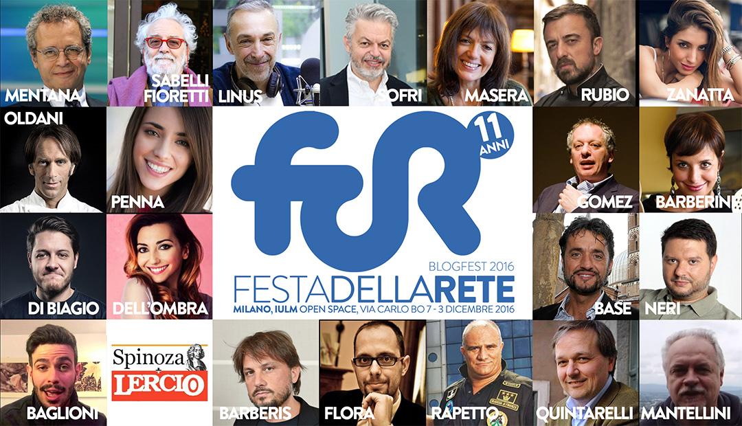 Gli ospiti della Festa della Rete 2016 #FdR16