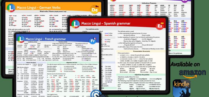Nu ook Engelstalige versies van onze taalkaarten op Amazon verkrijgbaar