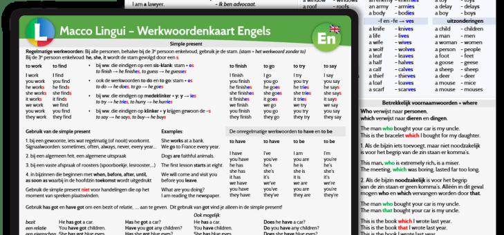 Taalkaarten Engels nu verkrijgbaar op Amazon!