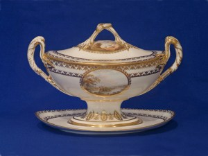 Macculloch Hall Decorative Arts Collections: Crown Derby Hand-decorated porcelain English c. 1800