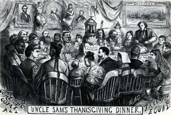 Uncle Sam's Thanksgiving Dinner, Macculloch Hall Historical Archvies
