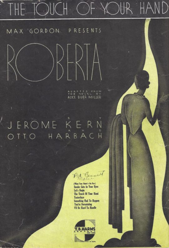 Roberta based on a novel by Alice Duer Miller