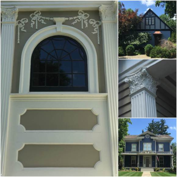 Collage of houses on the 2018 House Tour