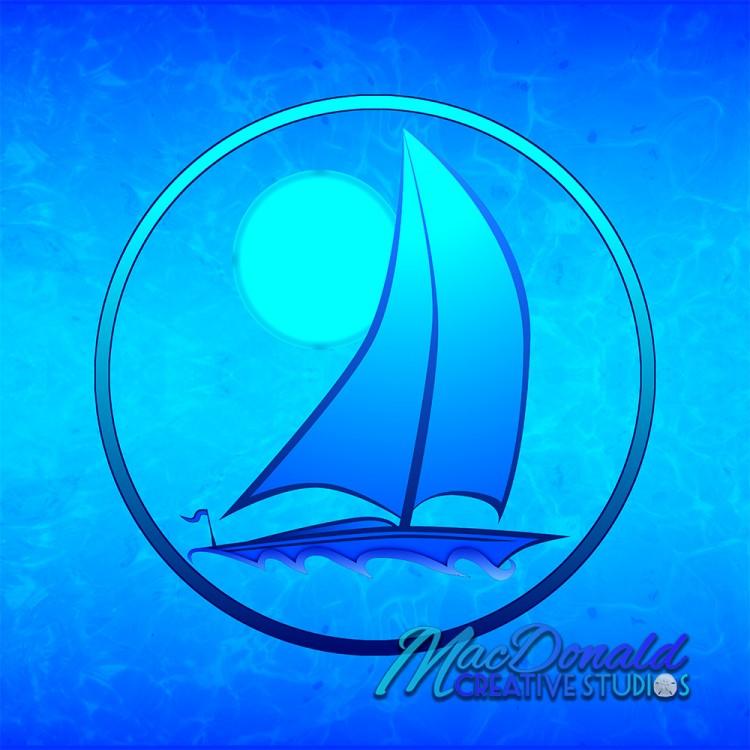 sailboat nautical art