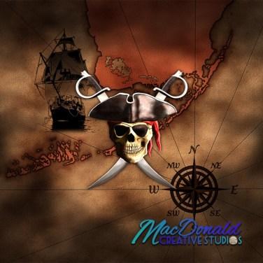 pirate map for portfolio